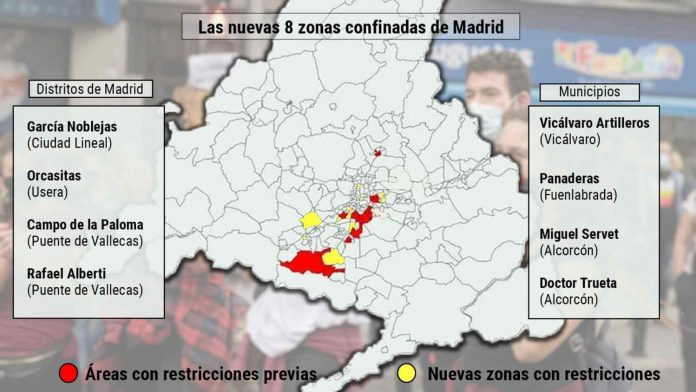 Ispanija Dar astuonios zonos Madride itrauktos i karantino sarasa