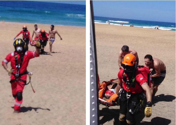 Fuerteventura Is Kofetes (Cofete) papludimio sraigtasparniu isgabentas dar vienas poilsiautojas