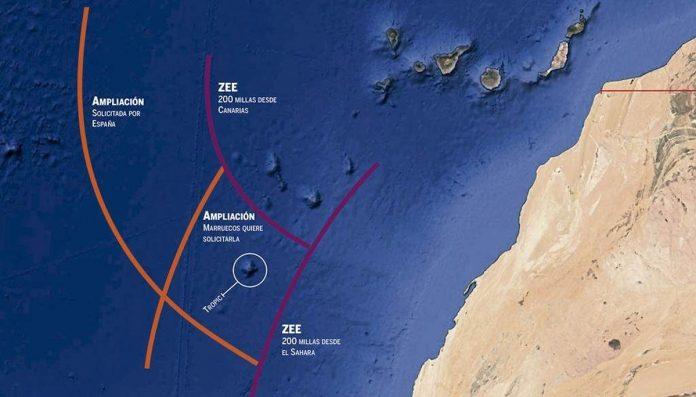 Kanaru salos Zvejai pareiske, kad Kanaru vandenys ju kompiuteriuose rodomi kaip marokietiski
