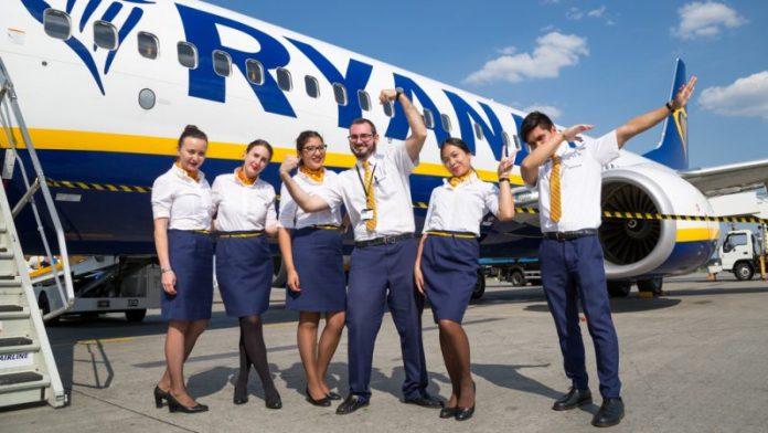 Ryanair ziemos sezono metu vykdys skrydzius tarp salyno ir keturiu zemynines Ispanijos miestu