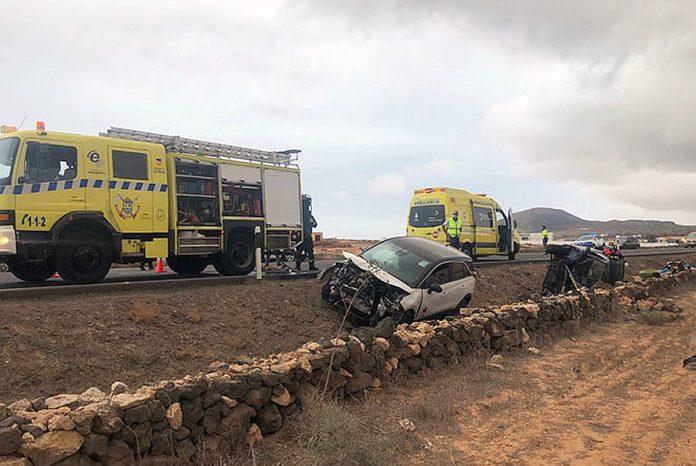 Fuerteventura Trys zmones nukentejo avarijoje, ivykusioje La Oliva regione