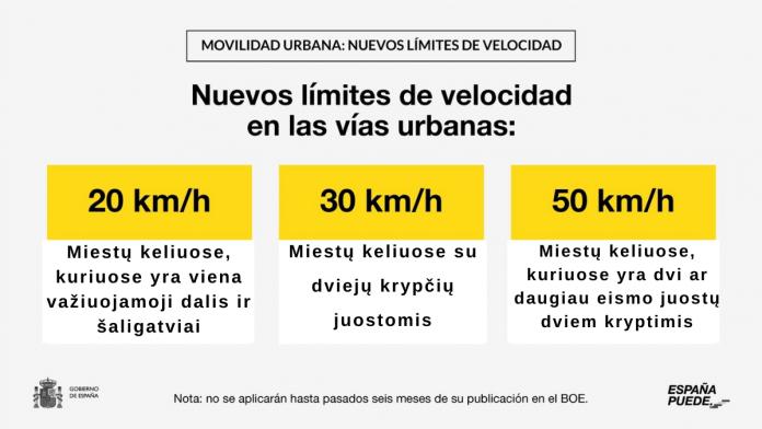 Kaip mus paveiks naujosios Ispanijos keliu eismo taisykles