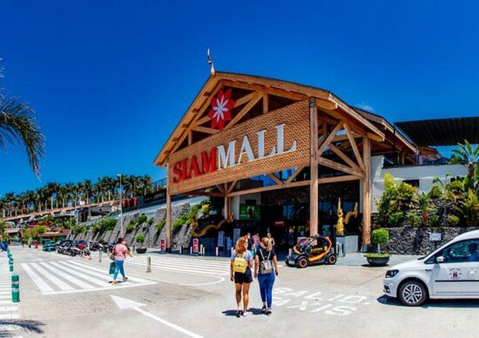 Tenerife salia prekybos centro Siam Mall rastas lavonas