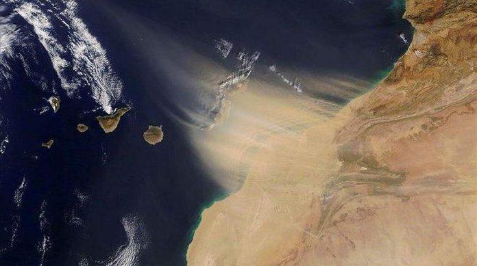 Smelio audros Siaures Afrikoje gena link Kanaru salu naujus smelio debesis