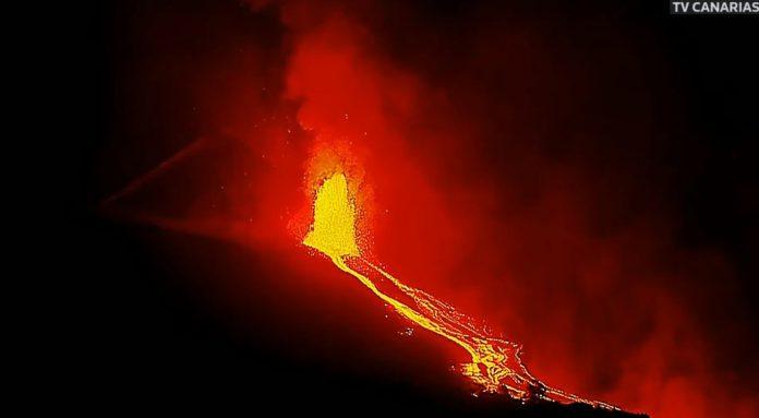 La Palma Ugnikalnio issiverzimo tiesiogines transliacijos