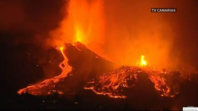 La Palma saloje prasidejo ugnikalnio issiverzimas